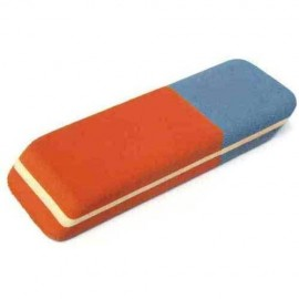 Dual-sided eraser Red & Blue